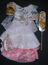 NWT Disney Store Glinda Deluxe Costume Dress 4/4T Tiara Wand Shoes Wizard of Oz