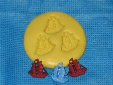 Sail Ships Boats Silicone Mold #933 For Cake Pop Chocolate Resin Clay Candy
