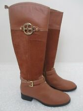 $249  IMAN BROWN LEATHER PONYHAIR KNEE HIGH BOOTS SIZE 7 1/2 M - NEW