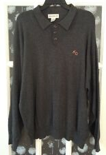 Munsingwear, XXL, Dark Grey, LS, Cotton, XO Polo Sweater