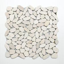 Delightful Mosaikmatte Kiesel Geschnitten Uni Weiss 5/7 Wand Boden Innen Außen  Nassbereich