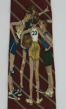 Brown Bigelow Mens Novelty Neck Tie Silk Boys Playing Basketball Norman Rockwell