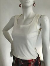 Gianni Versace ivory Sleeveless zip side top size M used