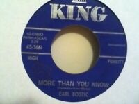 EARL   BOSTIC        45   SINGLE ,    DON,T  BLAME  ME  /  MORE  THAN  YOU KNOW
