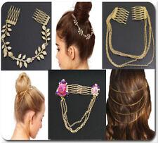 Hair Chain Double Hair Plugs Chain Hairband Hair Jewelry Headpiece