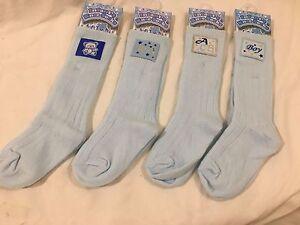 baby babies boy boys long knee pale blue socks cotton rich  teddy ABC no.1