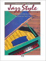 SPOTLIGHT ON JAZZ STYLE Piano Sheet Music Book Songbook Shop Soiled