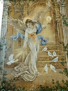 Angel of Light Angels & Doves Tapestry Wall Hanging Lena Liu