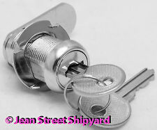 Marine Boat Office Universal Chrome Plated Cabin Cabinet Cam Lock & Keys 37241