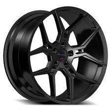 "4ea 20"" Staggered Giovanna Wheels Haleb Black Rims (S11)"