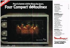 PUBLICITE ADVERTISING 095  1978  MOULINEX  le four COMPACT ( 2p)