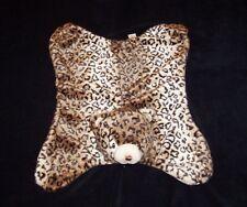 Baby Gund Jayme Comfy Cozy Blanket Brown Leopard Cheetah Print Satin 4043891