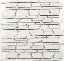 Marmormosaik Verbundmosaik uni Biancone Fliesenspiegel Art: 40-0200 | 10 Matten