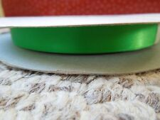 "5/8"" Green Satin Double Faced  Ribbon 5 Yards"