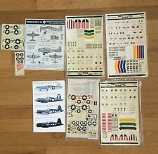 1/72 Scale US Navy Aircraft WWII Decals