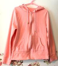 Yumetenbo Japan Salmon Pink Hoodie Jacket Parka Ladies Women Zip front Track