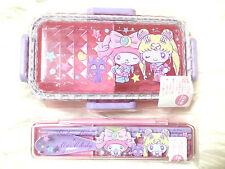 💕 My Melody & Sailor Moon Sanrio Japan Bento Lunch Box & Chopsticks Spoon Set💕