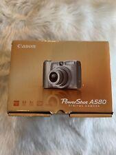 Canon PowerShot A580 8.0MP Digital Camera - Silver (No Software Disc) Fast Ship