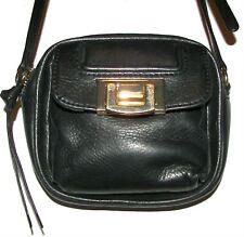 BARNEYS NEW YORK Black Leather Purse Crossbody