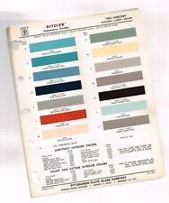 1963 Mercury COLOR CHIP SAMPLE PAINT CHART Brochure: Monterey / Comet / Meteor