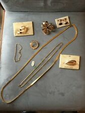 Lot de bijoux Vintage En Plaque Or Collier Broches Bracelet Chaîne