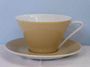 Lilienporzellan Daisy Beige Teetasse mit Untertasse Kaffeetasse Lilien Porzellan