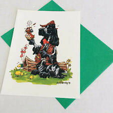 English Cocker Spaniel Dog Greeting Just Cards by Mike McCartney Blank Vintage