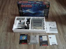 SNES Konsole mit dem Spiel Super Mario World in OVP + Super Gamey Boy Adapter