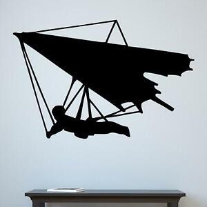 Hang Glider Silhouette Sports Wall Sticker Decal Kids Bedroom Home Matt Vinyl UK