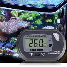 1x Digital Lcd Fish Tank Aquarium Marine Water Thermometer Temperature Black A6
