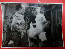 PHOTO POSTCARD IMAGE MOVIE ACTOR AS PAINTER NUDE WOMEN MOVIE FESTIVAL I