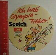 Aufkleber/Sticker: Scotch 1988 ich hab Olympia Fieber (120716111)