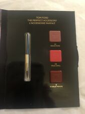 TOM FORD LIPSTICK SAMPLE TRIO: INDIAN ROSE: TRUE CORAL: & SCARLET ROUGE 1g NEW