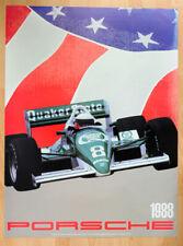 "orginal Porsche Plakat Renn Poster ""Indianapolis Porsche"" 2708 C Rennwagen1988"