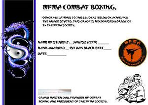 Combat Boxing 1st Dan Black Belt Home Study Course.