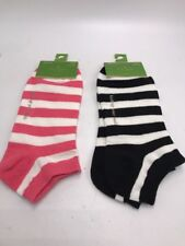 $16 Kate Spade striped  socks set of two no  show  S3