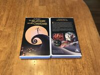 DISNEY The Nightmare before Christmas ''VHS CASE'' NOTEBOOK JOURNAL - NEW