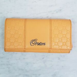 [ OROTON ] Womens Orange Leather Wallet