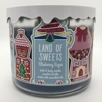 BATH & BODY WORKS LAND OF SWEETS (BLUEBERRY SUGAR) 3 WICK 14.5 oz CANDLE NEW