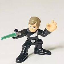 Star Wars Hasbro Galactic Heroes Luke Shywalker Jedi Black Glove 2007 Figurine