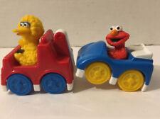 Sesame Street Big Bird Tow Truck Toy Elmo Car Mattel 2010 Remake A2