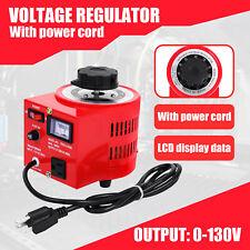 500w Variac Transformer Variable Ac Voltage Regulator Metered 5amp 110v 0 130v
