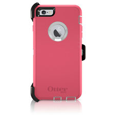 "OtterBox Defender iPhone 6 / 6S 4.7"" Case & Holster Clip Hibiscus Pink White OEM"