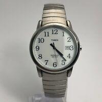 Timex Mens Indiglo Silver Tone Bracelet Date Indicator Quartz Analog Wristwatch