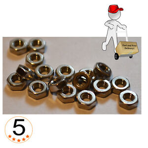 HEXAGON FULL NUTS STAINLESS STEEL M3, M4, M5, M6, M8