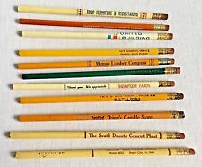 11 Vintage Wooden Advertising Pencils Construction Lumber Building Companies