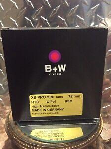 Genuine B+W 72mm XS-PRO Digital MRC Nano KSM Circular Polarizer Filter 1081477