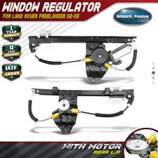 2x Window Regulator w/ Motor for 02-05 Land Rover Freelander Rear Left & Right