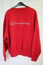 Mens CHAMPION Crewneck Pullover Sweatshirt Sweater sz XL 100% Cotton Red