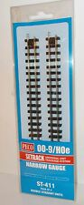 Peco Setrack (00-9/H0e) ST-411 - Double Straights x 4 (Narrow Gauge) - New.(009)
